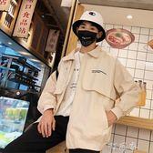 港風秋寬鬆外套男韓版潮流情侶BF學生棒球服工裝牛仔夾克 町目家