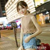 夏季韓版外穿內搭上衣打底吊帶百搭無袖T恤針織背心女 東京衣秀