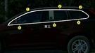 【車王汽車精品百貨】Volvo 2009-2017 XC60 車窗飾條 全窗飾條 上窗飾條 下窗飾條