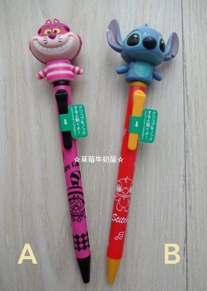 ☆草莓牛奶屋☆日本進口DISNEY STORE【笑笑貓&史迪奇】機關原子筆