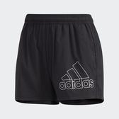 ADIDAS 短褲 運動短褲 1/4 SHORTS BOS 灰黑 透氣 慢跑 女 (布魯克林) GJ9028