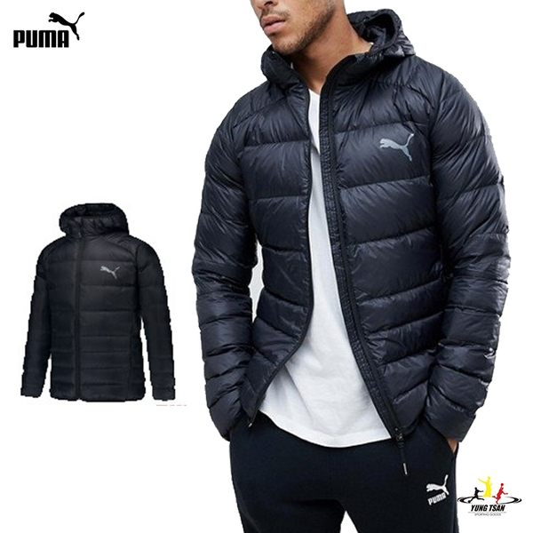 Puma PWRWarm 黑 男款 羽絨外套 長袖 外套 基本系列 可摺收 連帽 外套 85372101