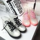 聖誕交換禮物-成人膠鞋低筒水靴透明水鞋雨...