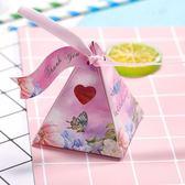 新款喜糖盒子喜糖盒婚慶結婚糖盒歐式小清新糖盒三角盒星空盒   初見居家