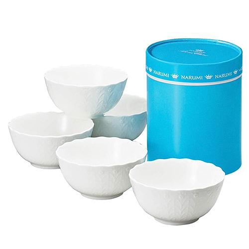 【日本代購】NARUMI立體花紋瓷碗組