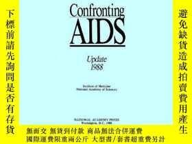 二手書博民逛書店Confronting罕見AIDS: Update 1988Y3