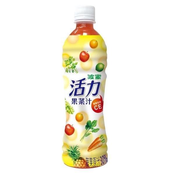 【南紡購物中心】波蜜-活力果菜汁x2箱(500gX24瓶/箱)