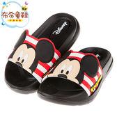 《布布童鞋》Disney迪士尼米奇黑色兒童超輕量拖鞋(15~21公分) [ D7R004D ]
