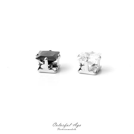 磁鐵耳環 5MM方型奧地利水鑽耀眼耳環 免穿耳洞基本款式不分男女【ND294】單顆售價