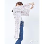 CANTWO滿版碎花拼接蕾絲開襟罩衫-二色~春夏新品單一特價