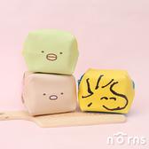 日貨立體正方型化妝包- Norns 角落小夥伴 Snoopy正版 糊塗卡克