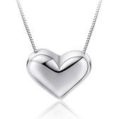 鍍項鍊項飾歐美愛心形項鍊吊墜女款鍍銀首飾品《小師妹》ps141