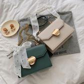 鍊條包斜背小包女時尚韓版高級感包包洋氣側背手提鍊條小方包潮 美物居家
