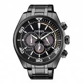 CITIZEN 星辰CA4335-88E 卓越不凡光動能計時腕錶情人節款黑43mm