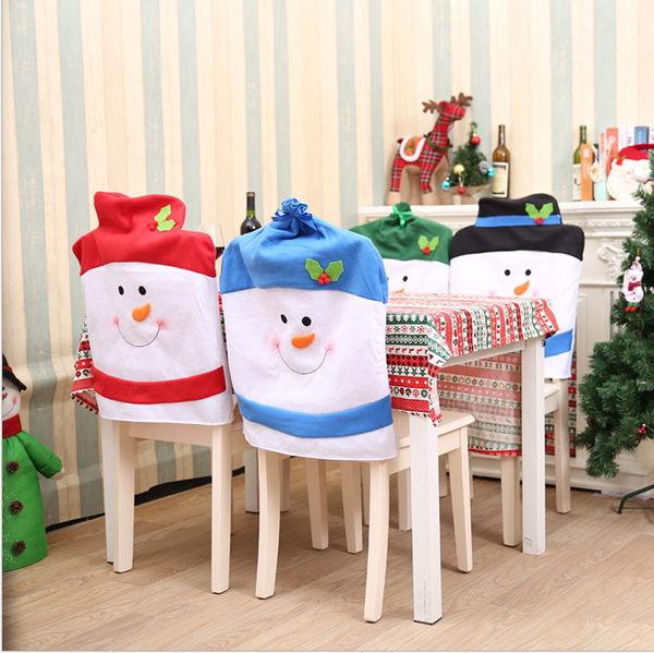 聖誕家居裝飾 聖誕雪人椅子套 聖誕餐桌裝飾 聖誕椅子套─預購CH2570