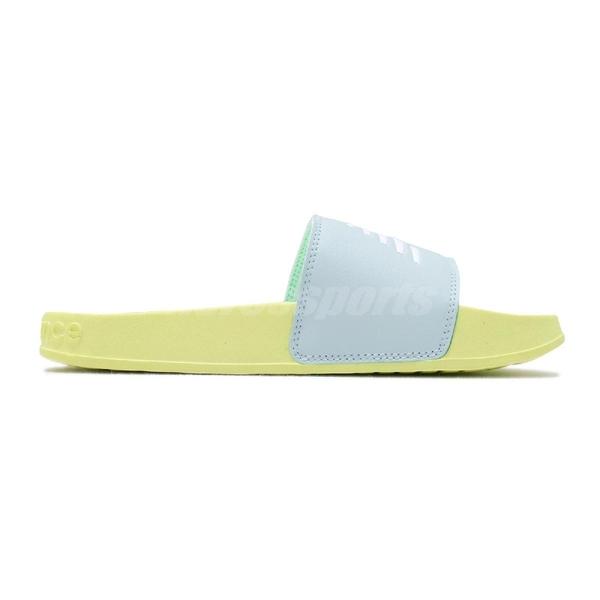 New Balance 拖鞋 NB 200 藍 黃 女鞋 運動拖鞋 涼拖鞋【PUMP306】 SWF200LSB