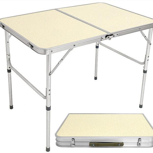 90X60輕便鋁合金手提折疊桌.摺疊桌折合桌摺合桌.和室桌簡易床上桌辦公桌.戶外桌野餐桌露營桌