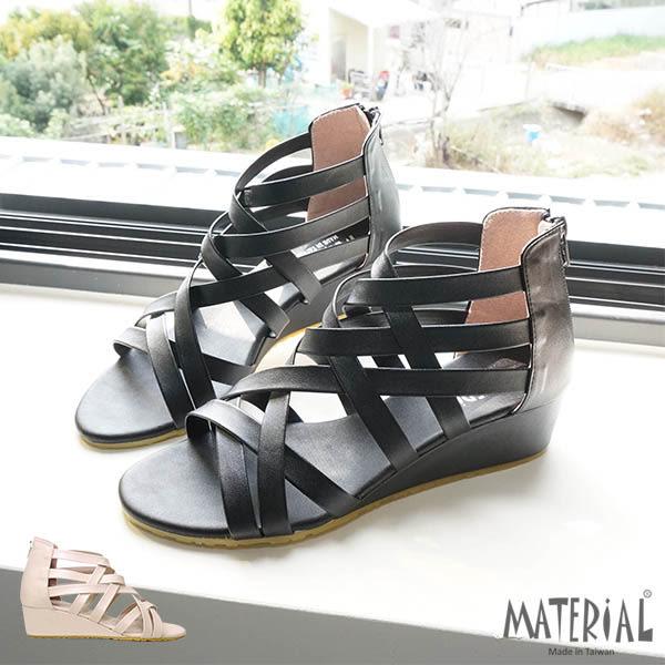 涼鞋 交叉羅馬楔型涼鞋 MA女鞋 T142