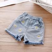 女童短褲2020夏裝新款中小童花朵刺繡百搭牛仔褲兒童時尚舒適褲子 艾瑞斯居家生活