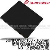 SUNPOWER 100 x 100 mm ND 1.2 贈支架 玻璃方形全片式減光鏡 (24期0利率 免運 湧蓮公司貨) ND16 減4格光圈