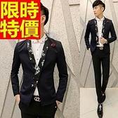 西裝外套-韓版正規領型單排扣修身男外套3色65b32[巴黎精品]
