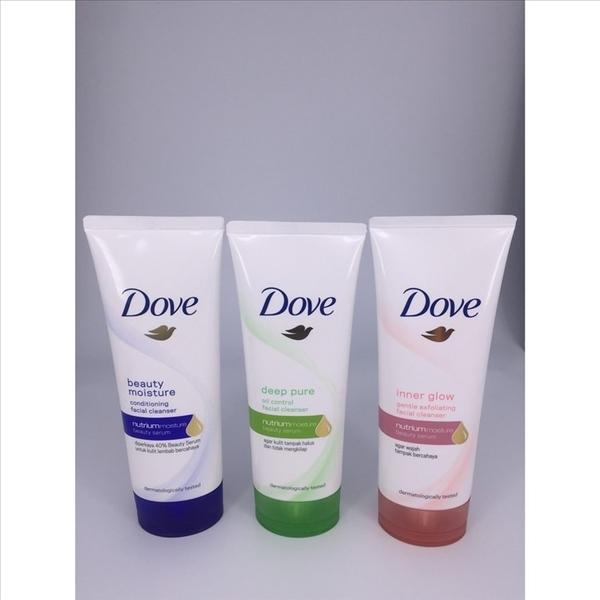Dove 多芬 潤澤水嫩/淨透柔嫩/淨亮彈嫩 洗面乳(100g) 3款可選 潔顏 洗臉 護膚 潔顏乳
