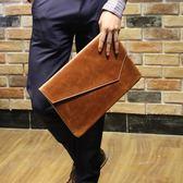2018新款男包 潮包 韓國時尚手拿信封包復古手拿包 文件包