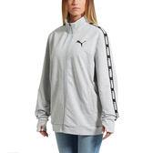Puma Rebel Jacket 女 灰 黑 潮流立領外套 寬版夾克 嘻哈 饒舌 風格 衛衣 基本系列 85074704
