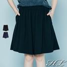 .HL超大尺碼.【21060004】自然墜感舒適修身褲裙 2色