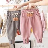 女童褲子冬裝2020新款兒童加絨加厚休閒褲女孩洋氣秋冬季束腳褲子 小艾時尚