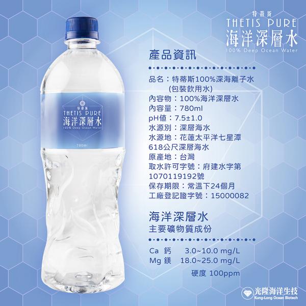 【特蒂斯】100%海洋深層水780ml(20入/箱)