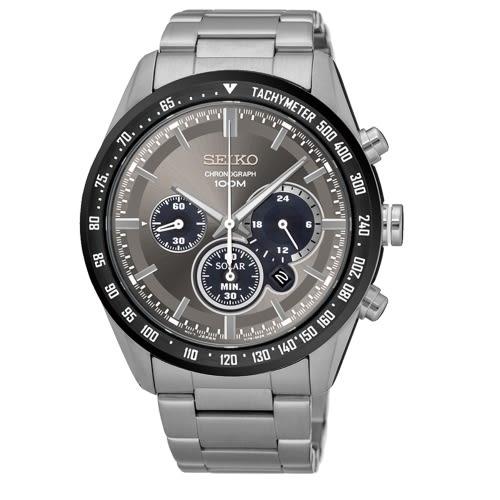 SEIKO Criteria時尚率性太陽能計時腕錶/V175-0DK0G/SSC467P1