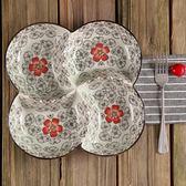 多格盤圓盤冷菜盤分隔餐盤分格盤餐具菜盤