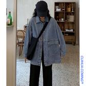 初秋季2019新款學生百搭網紅牛仔外套潮ins女寬鬆韓版bf工裝上衣