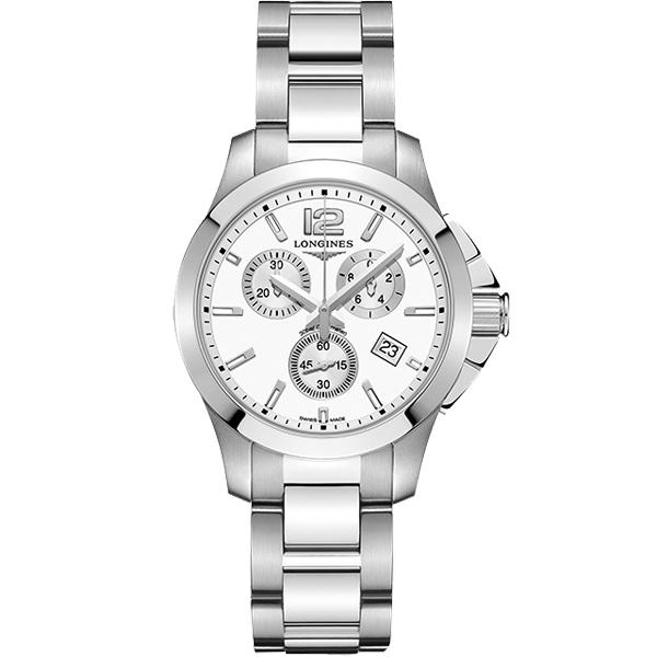 LONGINES 浪琴 Conquest 征服者300米潛水計時腕錶/手錶-白/36mm L33794166