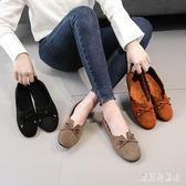 豆豆鞋 復古懶人鞋駕車鞋舒適一腳蹬休閒女鞋 BF8300『寶貝兒童裝』