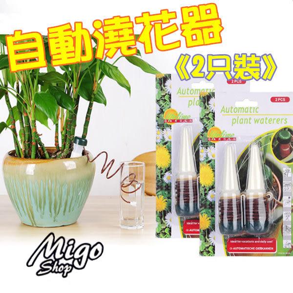 【自動澆花器《2只裝》】花卉盆栽 自動澆花器 澆水器 滴灌器 兩入裝 園藝工具