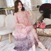 孕婦夏裝洋裝2020時尚新款寬鬆雪紡吊帶夏天裙子中長款兩件套裝 京都3C