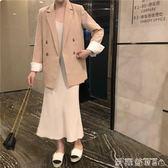 復古西裝外套女秋季韓版寬鬆休閒chic小西服時尚氣質開衫 【四月新品】
