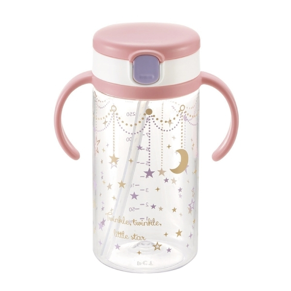 Richell利其爾-第三代LC戶外喝水杯吸管學習杯320ml 星辰