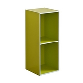 系統簡約加高二格櫃-綠色