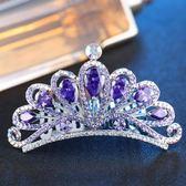 正韓水晶小皇冠插梳兒童公主頭飾女童丸子頭盤發卡王冠成人發飾品 全館免運折上折