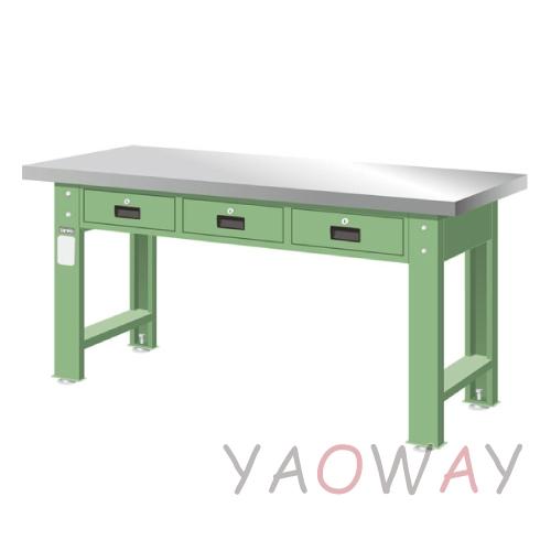 【耀偉】天鋼 橫式三屜(不銹鋼)工作桌WAT-5203S (工作台,工業桌,機台桌)