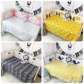 ins北歐風嬰兒寶寶新生兒全棉嬰兒床防撞造型床圍四季通用 美芭