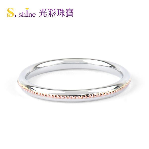 【光彩珠寶】婚戒 日本鉑金結婚戒指 男戒 邱比特之心