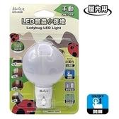 LED瓢蟲小夜燈(手動)