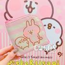 正版授權 卡娜赫拉的小動物 兔兔 P助 半圓雙層零錢包 票卡錢包 零錢包 戳臉款 COCOS WZ075