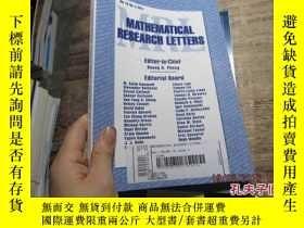 二手書博民逛書店mathematical罕見research letters v