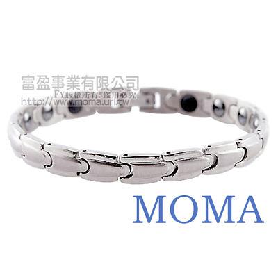 【MOMA】白鋼鍺磁手鍊-子彈窄版