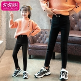 女童打底褲春秋外穿兒童魔術褲薄款洋氣2021新款長褲黑色小腳褲子 韓語空間